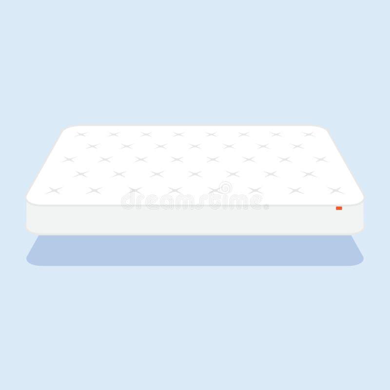 Colchón blanco llano stock de ilustración