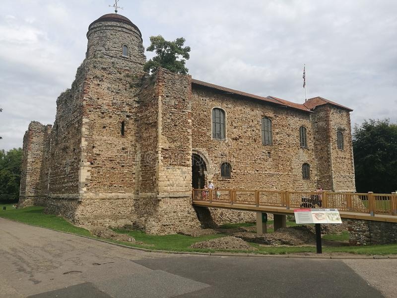 Colchester Castle Essex England. Colchester Castle in Colchester, Essex, England, is an example of a largely complete Norman castle. It is a Grade I listed royalty free stock photos