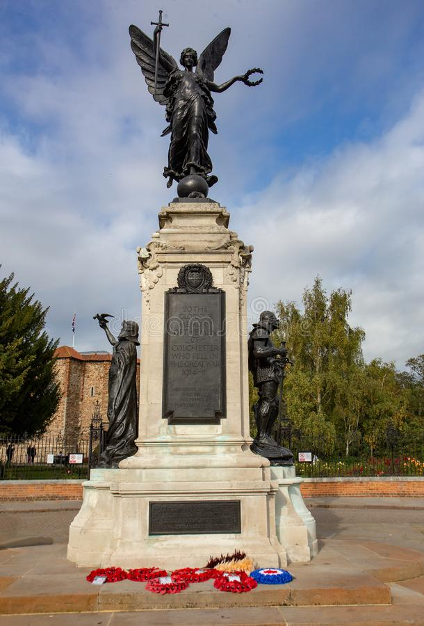 Colchester-Kriegs-Denkmal lizenzfreies stockbild