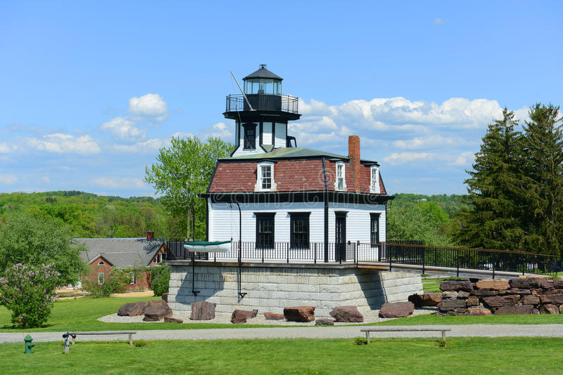 Colchester Reef Lighthouse, Vermont, USA. Colchester Reef Light was a antique lighthouse at Colchester Point in Lake Champlain. Now it was moved to Shelburne royalty free stock photography