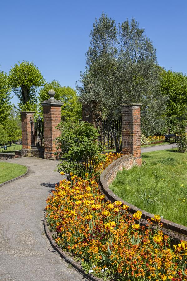 Colchester-Schloss-Park in Essex lizenzfreie stockbilder