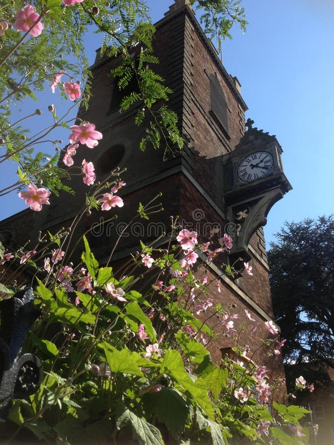 Colchester, tour avec l'horloge image libre de droits