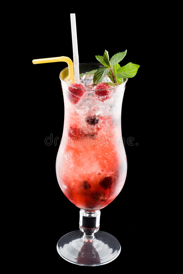 Download Cold alcoholic cocktai stock photo. Image of drink, black - 16994922