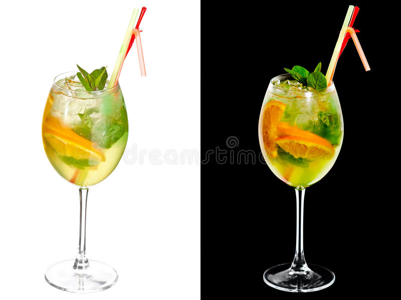 Cold Alcoholic Cocktail Royalty Free Stock Photography