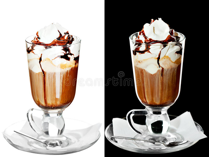 Download Cold alcoholic cocktail stock image. Image of chocolate - 30336305