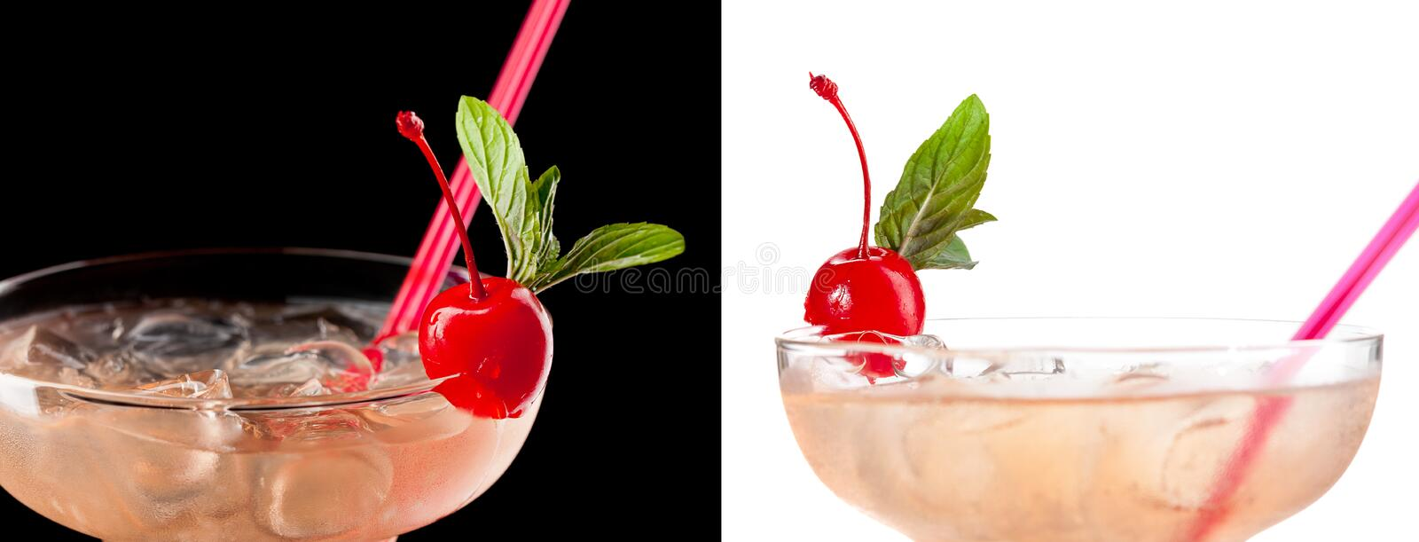 Cold Alcoholic Cocktail Royalty Free Stock Photos