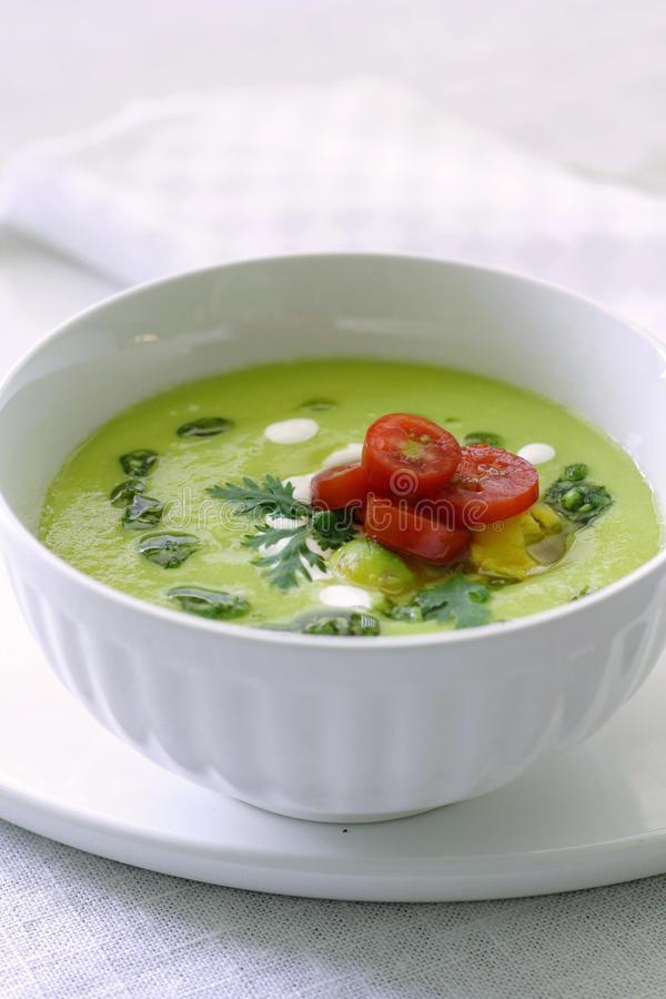 Download Cold avocado soup stock image. Image of summer, gourmet - 9947283
