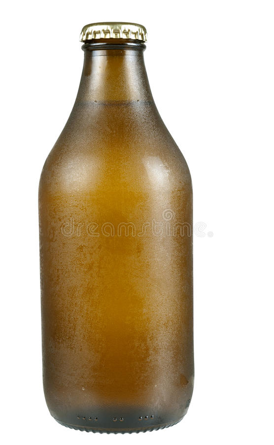 Download Cold Beer Bottle With Condensation, Isolated Stock Photo - Image: 20635654