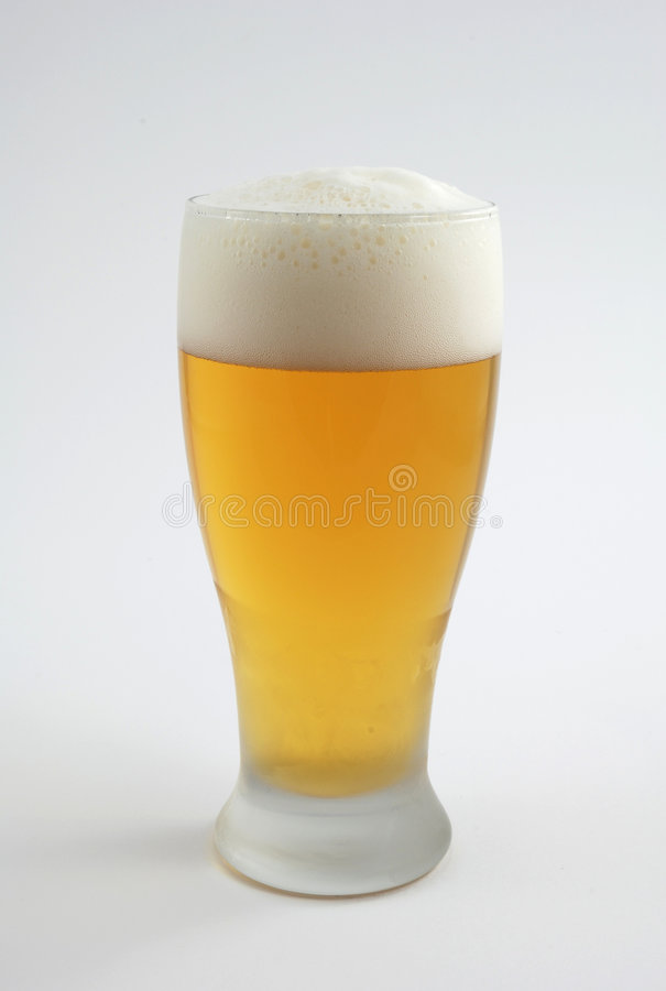 Cold Beer In Frosted Glass Royalty Free Stock Photo