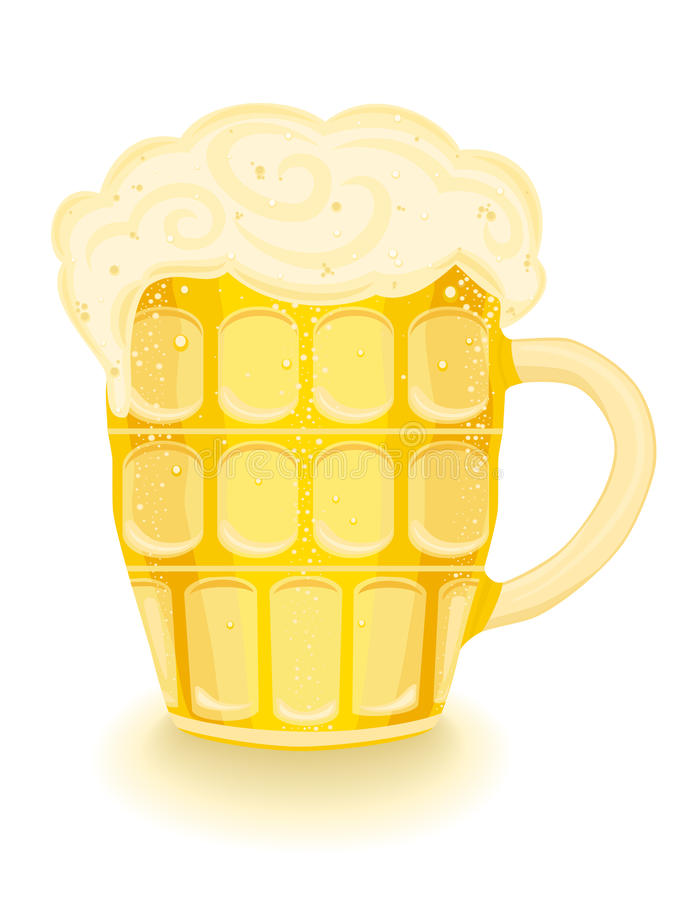 Cold Beer In A Mug Royalty Free Stock Images