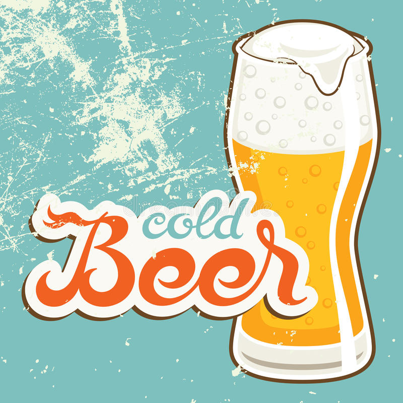 Download Cold Beer stock vector. Image of icon, style, vector - 31118254