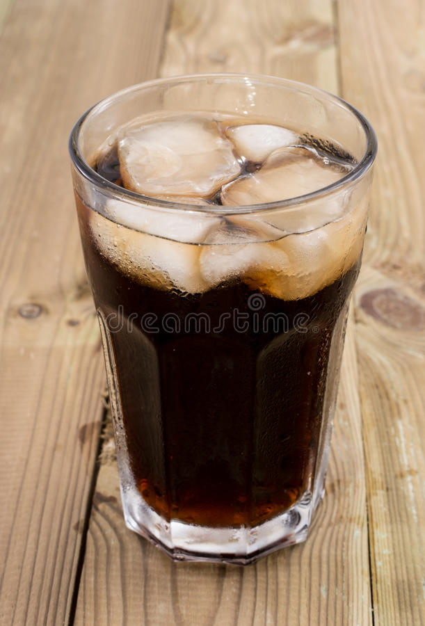 Cold Beverage On Wood Royalty Free Stock Images