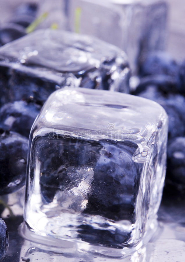 Download Cold blueberries stock image. Image of bite, cube, autumn - 1991001
