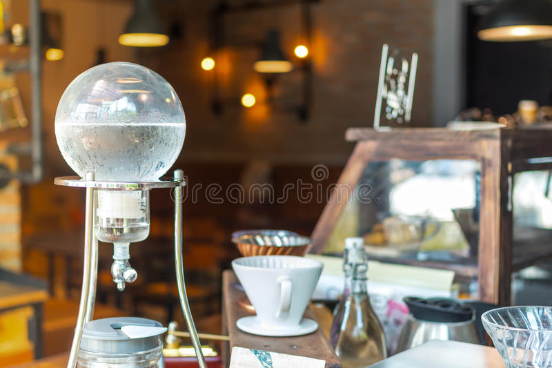 Cold brew coffee. In glass jar prepare for Drink royalty free stock photos