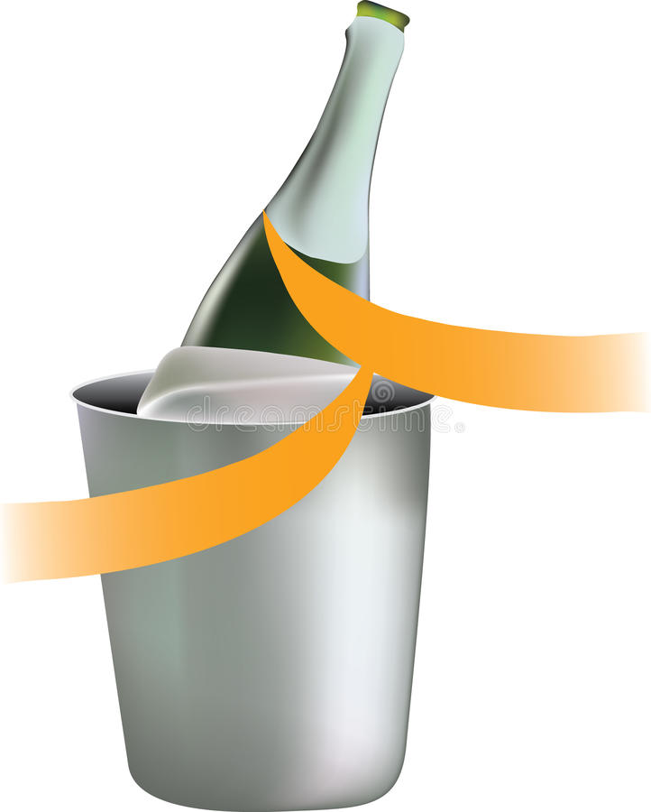 Free Cold Champagne In A Bucket Royalty Free Stock Photography - 14885407