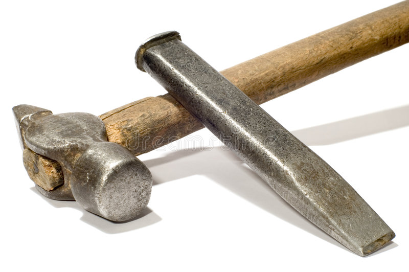 Download Cold chisel stock photo. Image of construction, macro - 2472230