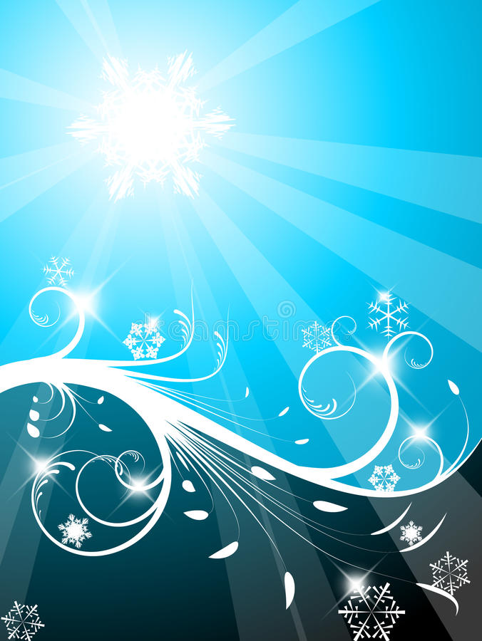 Download Cold Christmas background stock illustration. Illustration of curve - 16346968