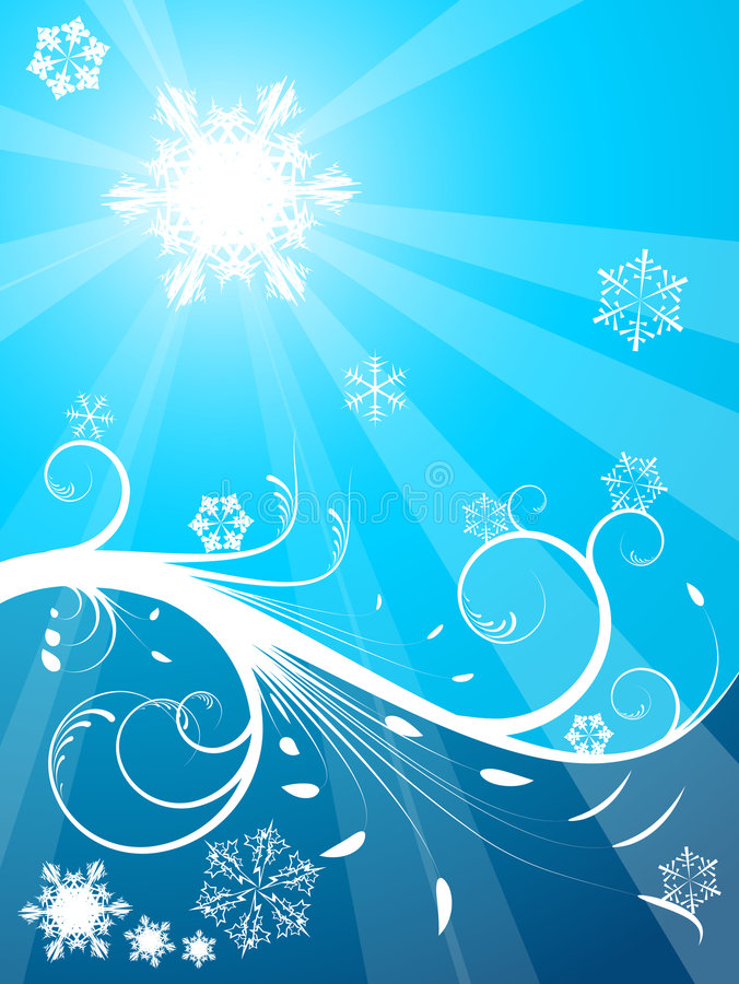 Cold Christmas Background Stock Photography