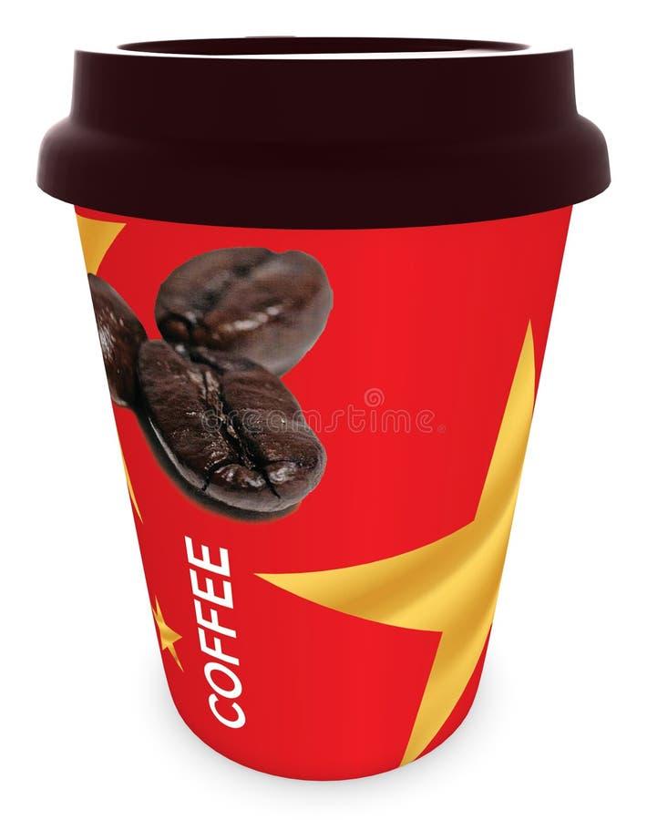 COLD COFFEE Tin,Dubai 28th may 2017 royalty free illustration