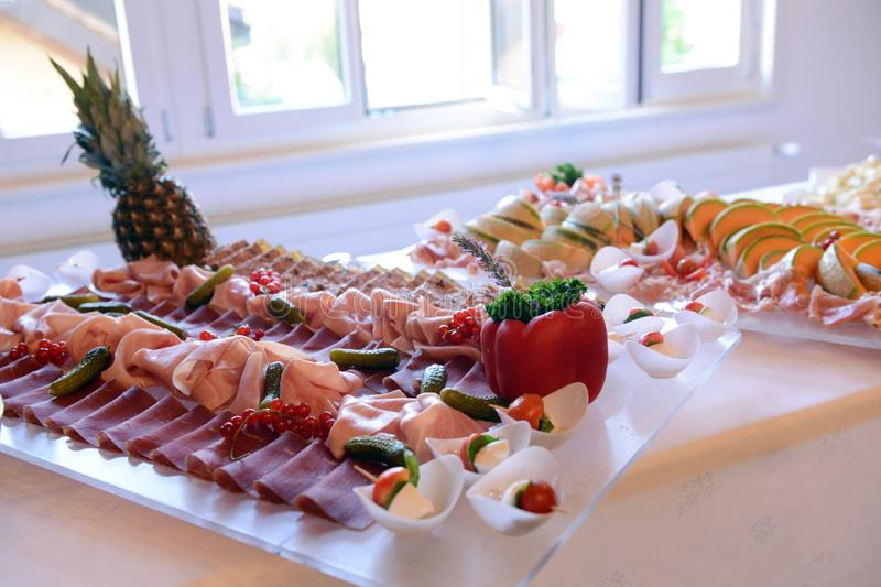 Cold cold buffet stock image