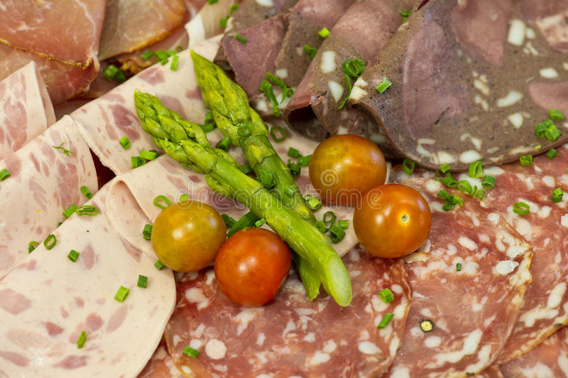 Cold cuts stock image