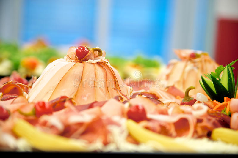 Cold Cuts With Ham Stock Photo