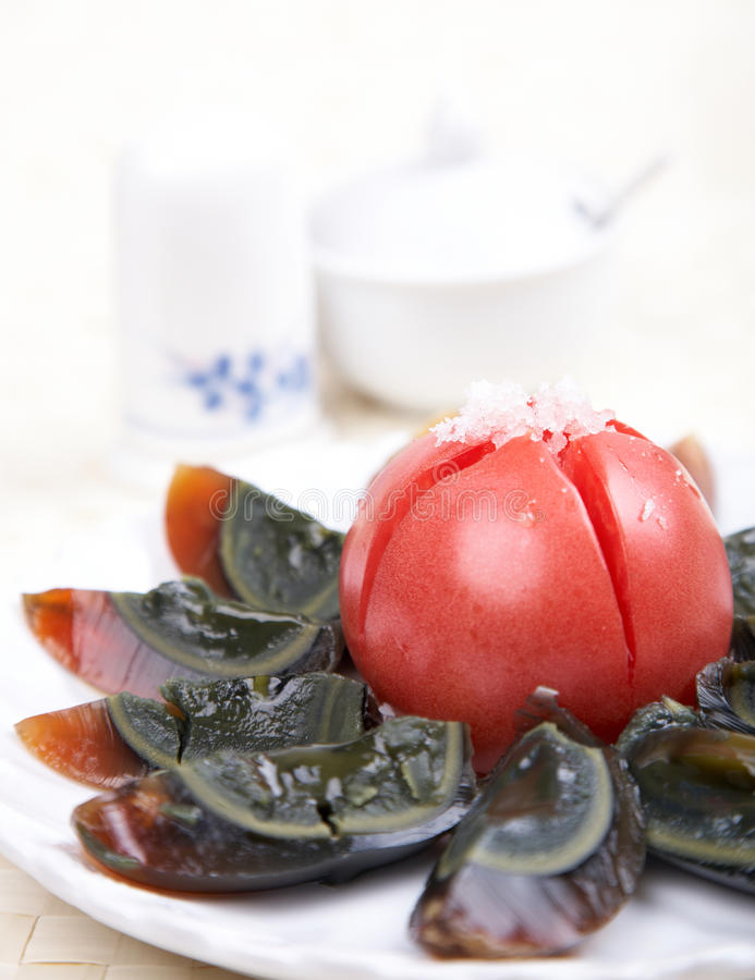 Cold Dish - Century Eggs Stock Photo