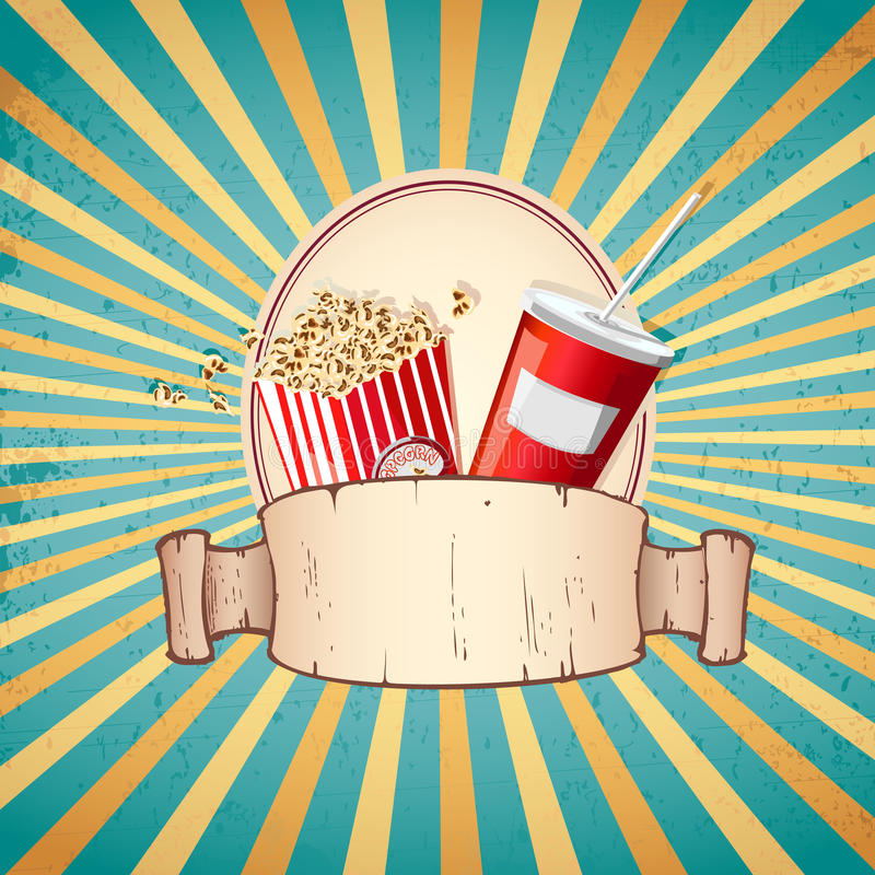 Free Cold Drink And Pop Corn Royalty Free Stock Photo - 26454425