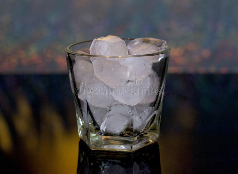 Cold, drink, ice. Ice whiskey and coke. stock image