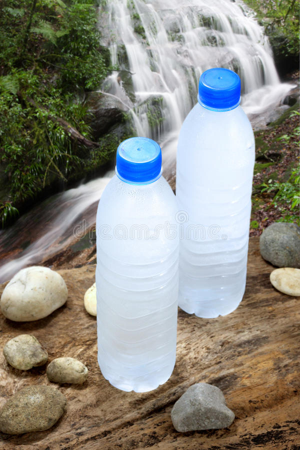 Cold drinking water in nature royalty free stock photo
