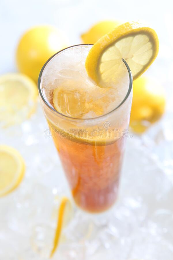 Cold Drinks Served On Clear Highball Glass With Lemon Garnish Free Public Domain Cc0 Image