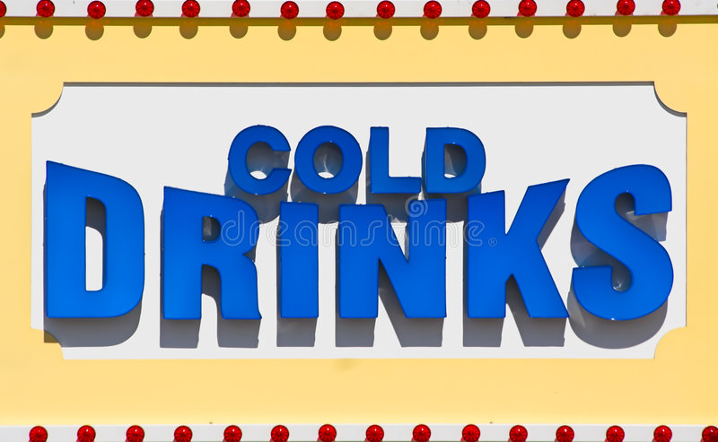Cold Drinks Sign stock illustration