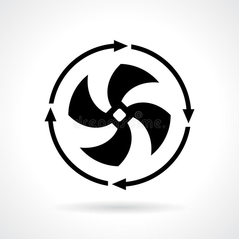 Cold fan vector icon. Illustration stock illustration