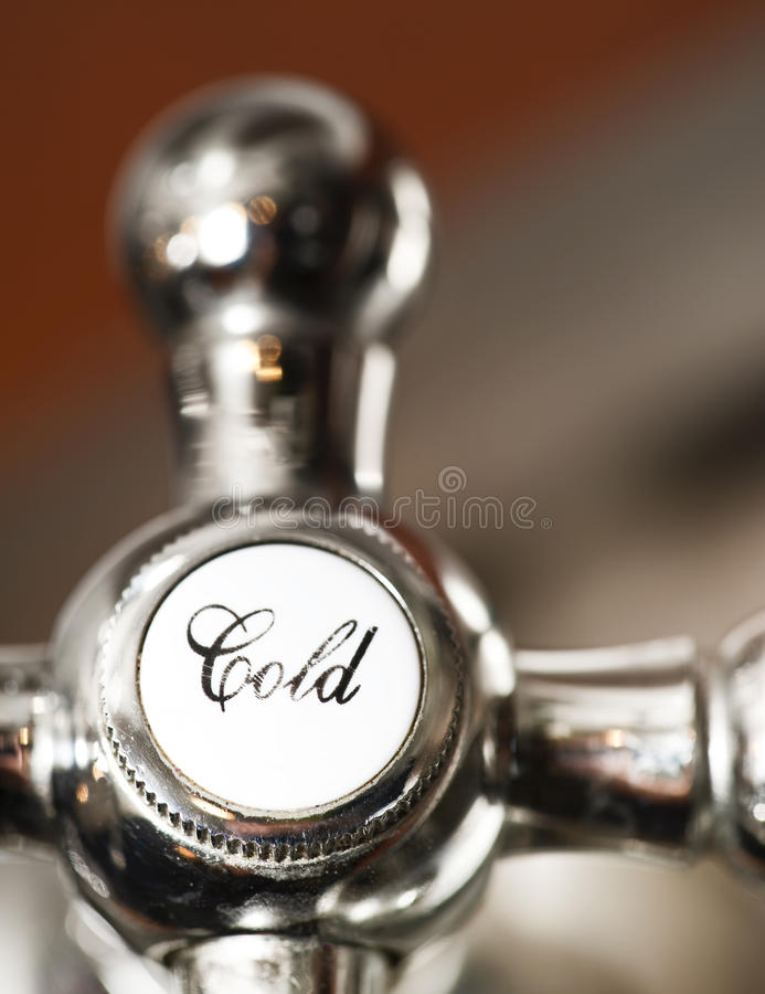 Cold Faucet stock image