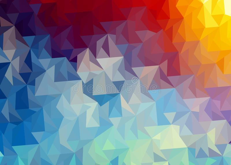 Abstract background of fighting two elements of fire and water royalty free illustration