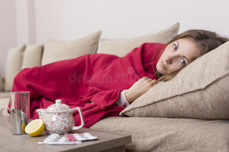 Cold and flu royalty free stock images