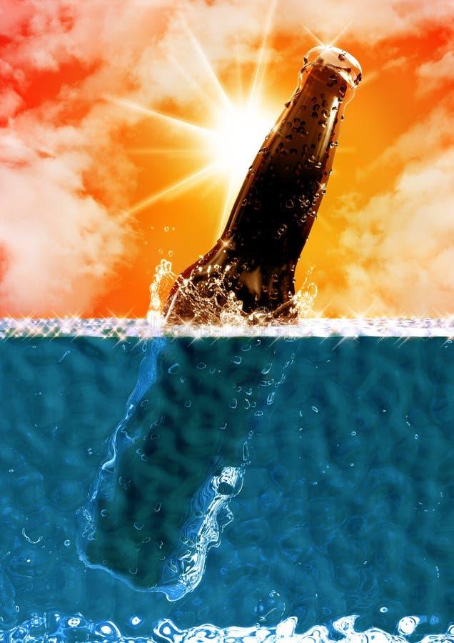 Download Cold fresh beer stock illustration. Image of ocean, caribbean - 31297792