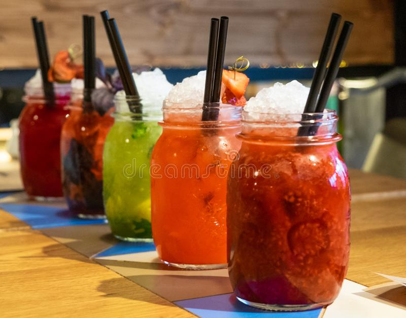 Cold and fresh drinks will help quench your thirst royalty free stock photo