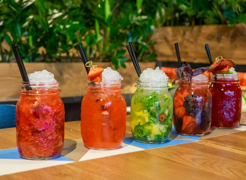 Cold and fresh drinks will help quench your thirst stock photography