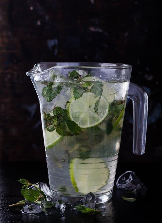 Cold fresh lemonade stock image