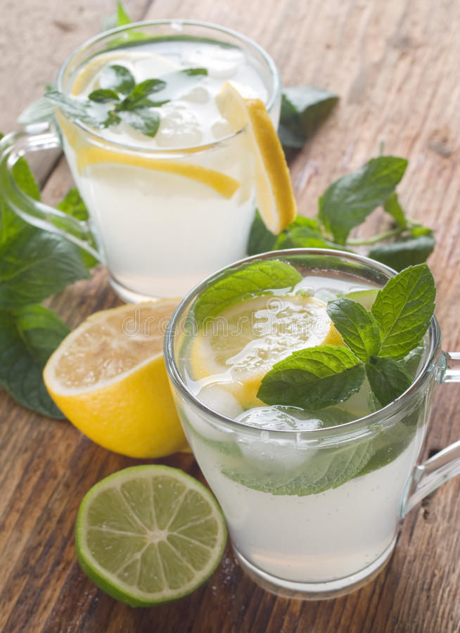 Cold fresh lemonade royalty free stock photos