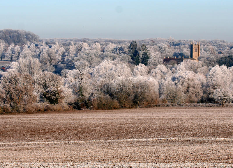 Cold and frosty morning, England. UK royalty free stock images