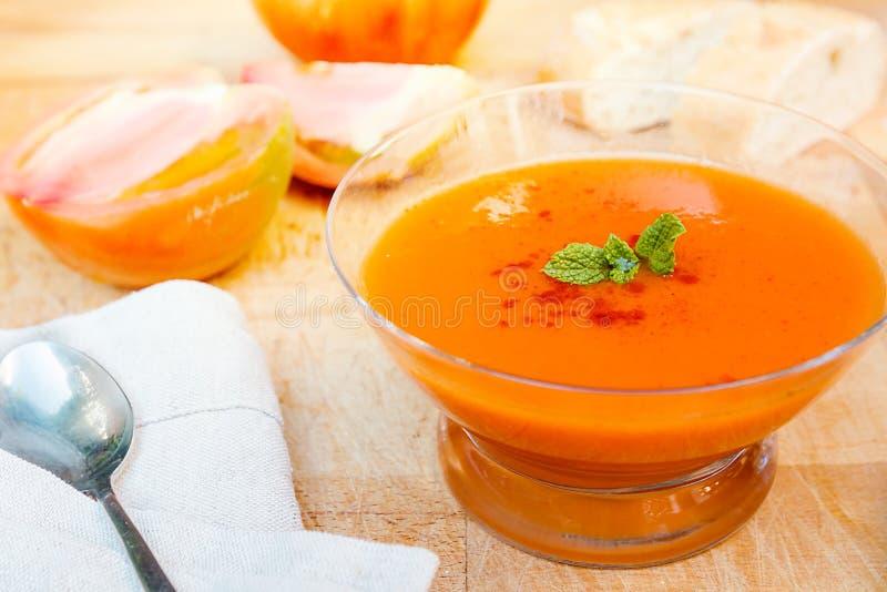Cold gazpacho soup royalty free stock photo