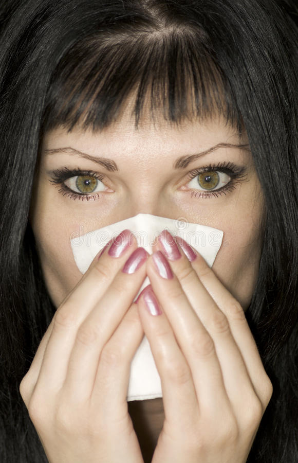 Download Cold girl stock photo. Image of hair, infections, eyes - 9505472