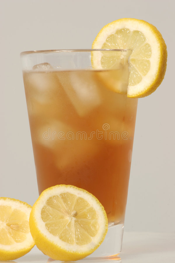 Cold glass of Ice Tea stock photos