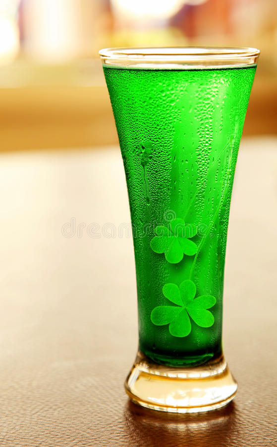Cold green beer stock photography