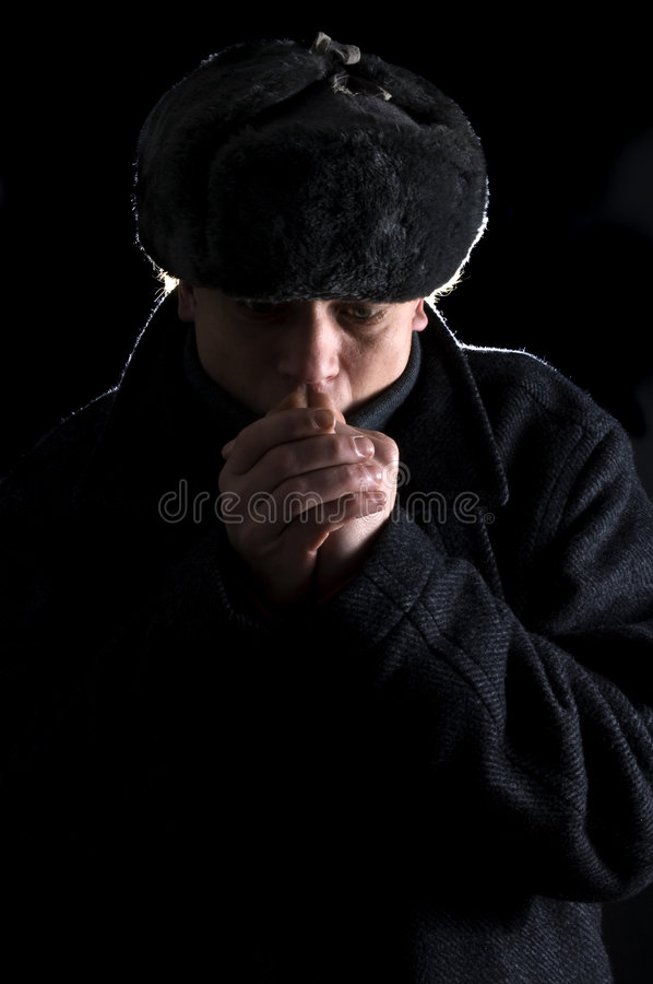 Cold Hands Stock Images