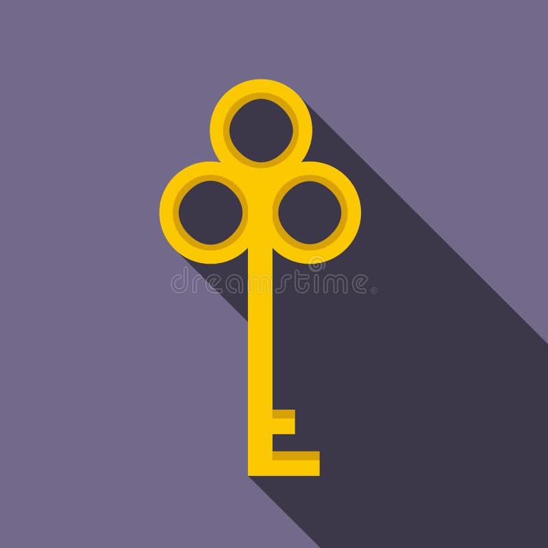Cold key icon, flat style royalty free illustration