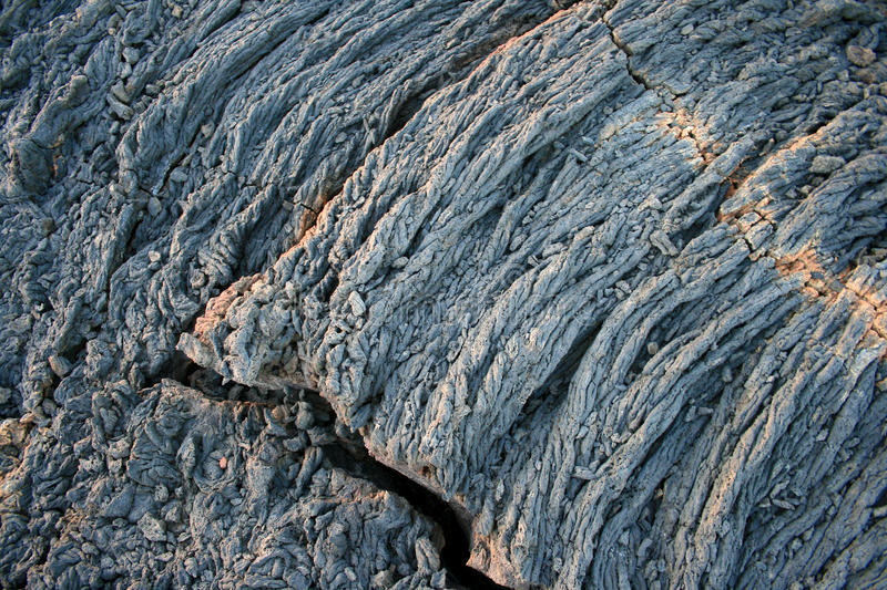Cold lava. Leaving a pattern in Hawaii royalty free stock photos