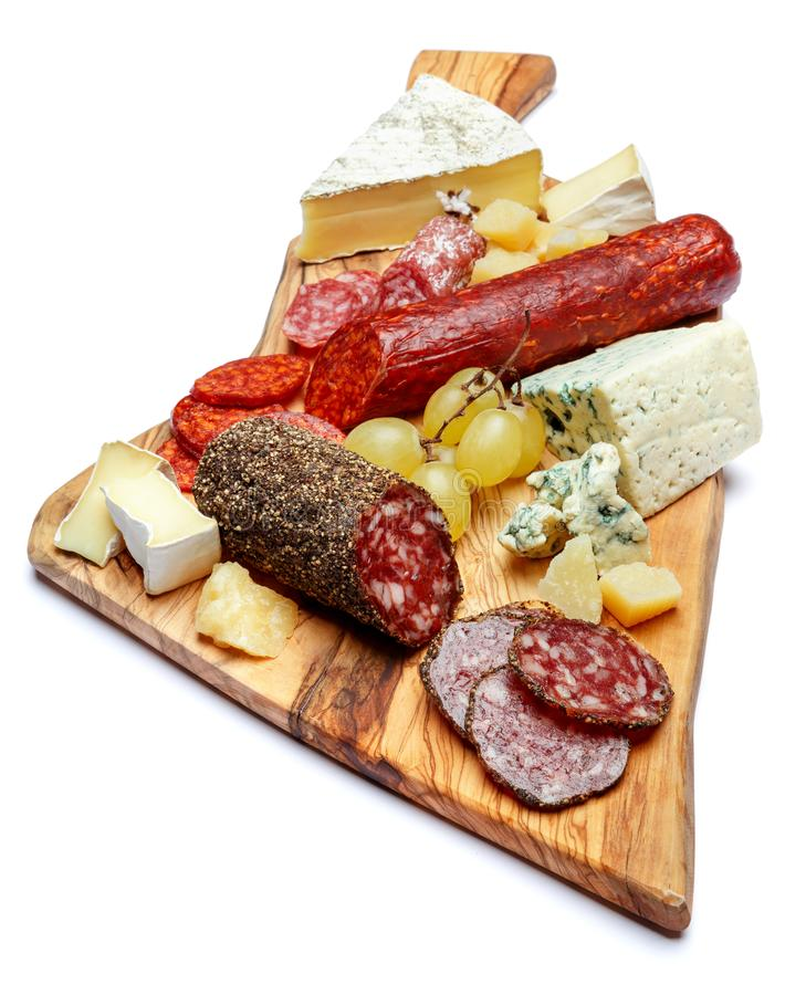 Download Cold Meat Cheese Plate With Salami Sausage And Cheese Stock Photo - Image of board  sc 1 st  Dreamstime.com & Cold Meat Cheese Plate With Salami Sausage And Cheese Stock Photo ...
